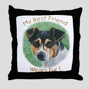 Best Friend Rat Terrier Throw Pillow