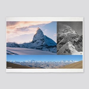 Everest,K2 and Matterhorn Summits 5'x7'Area Rug
