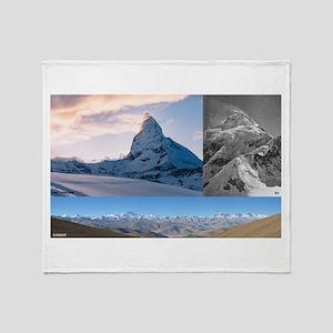 Everest,K2 and Matterhorn Summits Throw Blanket