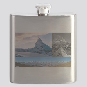 Everest,K2 and Matterhorn Summits Flask
