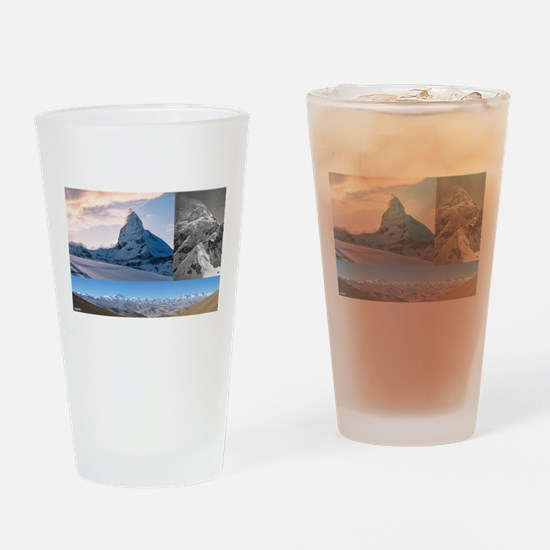Everest,K2 and Matterhorn Summits Drinking Glass