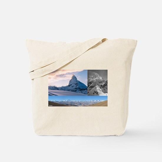 Everest,K2 and Matterhorn Summits Tote Bag