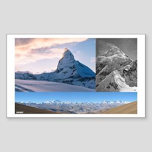 Everest,K2 and Matterhorn Summits Sticker