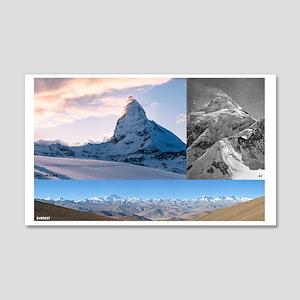 Everest,K2 and Matterhorn Summits Wall Decal