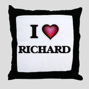 I Love Richard Throw Pillow