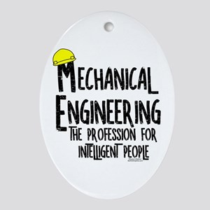 Smart Mechanical Engineer Rough Text Oval Ornament