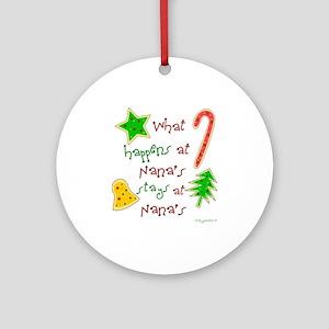 """Christmas Nana"" Ornament (Round)"
