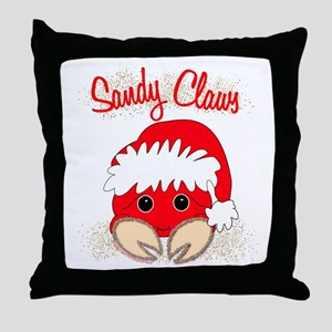 """Sandy Claws"" Throw Pillow"