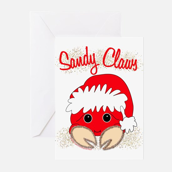 """""""Sandy Claws"""" Greeting Cards (Pk of 10)"""