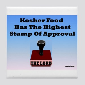 Kosher Food Has The Highest S Tile Coaster