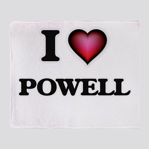 I Love Powell Throw Blanket