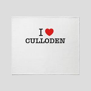I Love CULLODEN Throw Blanket