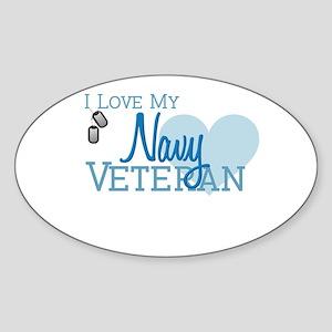 Navy Veteran Oval Sticker