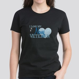 Navy Veteran Women's Dark T-Shirt