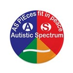 Autistic Spectrum logo Button