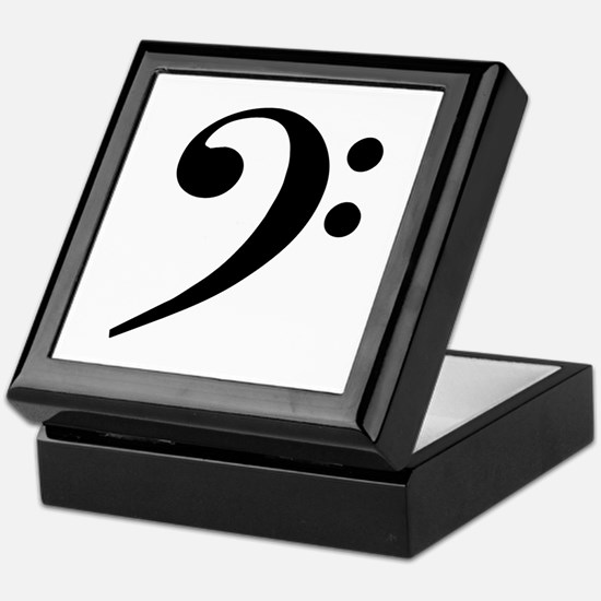 Trad Basic Black Bass Clef Keepsake Box