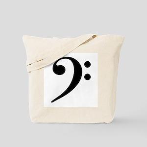 Trad Basic Black Bass Clef Tote Bag