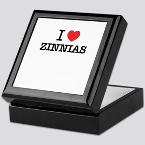 I Love ZINNIAS Keepsake Box