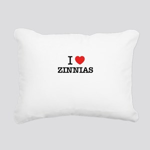 I Love ZINNIAS Rectangular Canvas Pillow