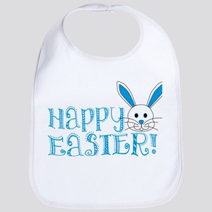 Happy Easter! -Blue/White Bib
