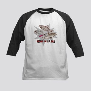 Fish Fear Me Kids Baseball Jersey