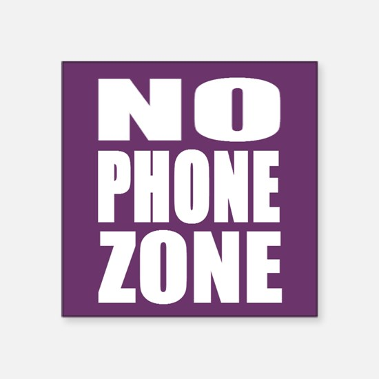 No Phone Zone Sticker