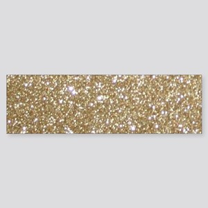 Girly Glam Gold Glitters Bumper Sticker