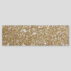 Girly Glam Gold Glitters Bumper Sticker