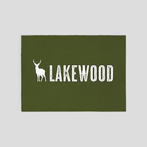 Deer: Lakewood, Colorado 5'x7'Area Rug