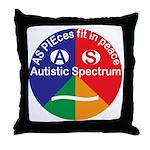 Autistic Spectrum logo Throw Pillow