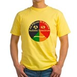 Autistic Spectrum logo Yellow T-Shirt