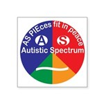 Autistic Spectrum logo Square Sticker 3