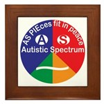 Autistic Spectrum logo Framed Tile