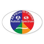 Autistic Spectrum logo Sticker (Oval)