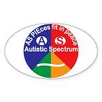 Autistic Spectrum logo Sticker (Oval)