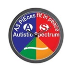 Autistic Spectrum logo Wall Clock
