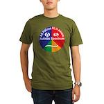 Autistic Spectrum log Organic Men's T-Shirt (dark)