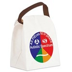 Autistic Spectrum logo Canvas Lunch Bag