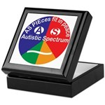 Autistic Spectrum logo Keepsake Box