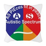 Autistic Spectrum logo Woven Throw Pillow