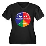 Autistic Spe Women's Plus Size V-Neck Dark T-Shirt