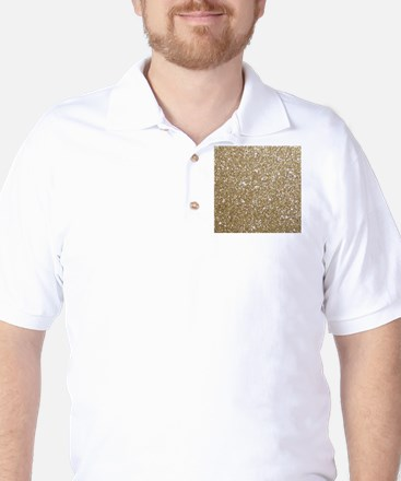 Girly Glam Gold Glitters Golf Shirt