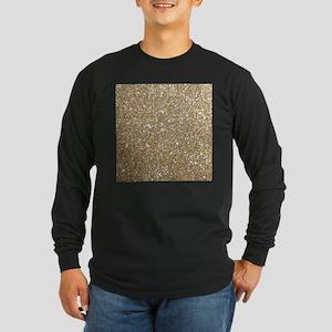 Girly Glam Gold Glitters Long Sleeve T-Shirt