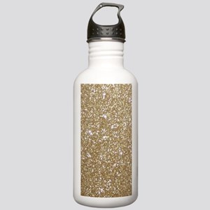 Girly Glam Gold Glitte Stainless Water Bottle 1.0L