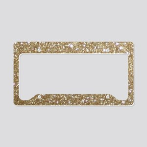 Girly Glam Gold Glitters License Plate Holder