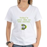 Your Day in the Barrel Women's V-Neck T-Shirt