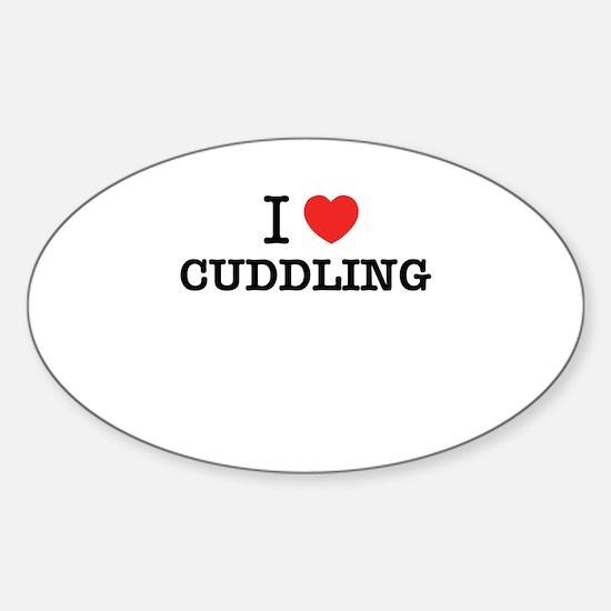 I Love CUDDLING Decal