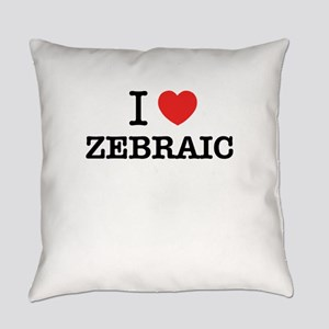 I Love ZEBRAIC Everyday Pillow