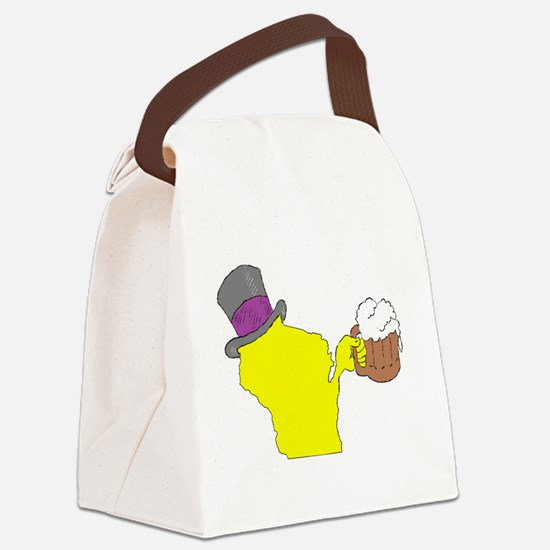 Funny Cheesehead Canvas Lunch Bag