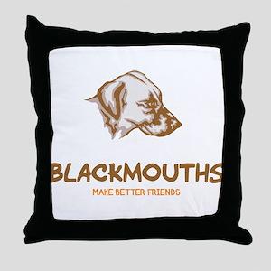 Blackmouth Cur Throw Pillow